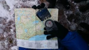 Krysspeiling med kart og kompass
